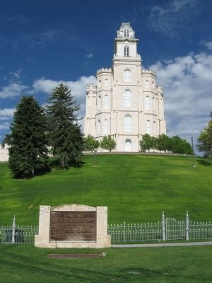 The Manti Temple Marker image. Click for full size.
