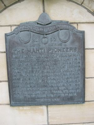The Manti Pioneers Marker image. Click for full size.