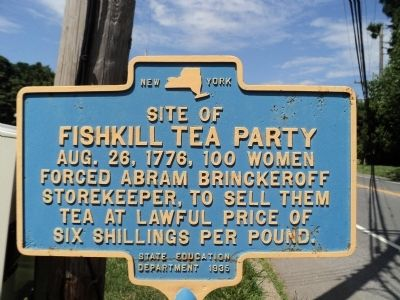 Fishkill Tea Party Marker image. Click for full size.