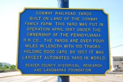 Conway Railroad Yards Marker image. Click for full size.