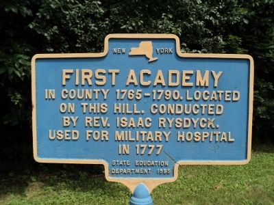 First Academy Marker image. Click for full size.