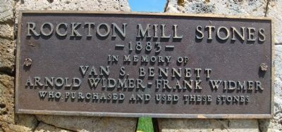 Rockton Mill Stones Marker image. Click for full size.