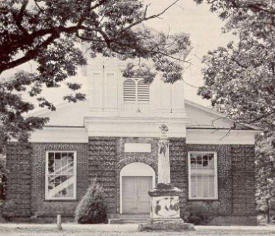 Limestone Springs Baptist Church (1846)<br>Undated Photo Showing the<br>Rev. Thomas Curtis Monument image. Click for full size.