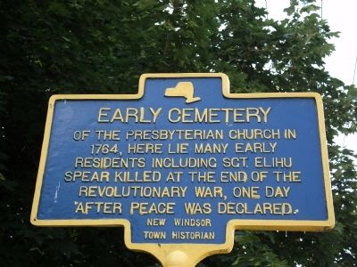 Early Cemetery Marker image. Click for full size.