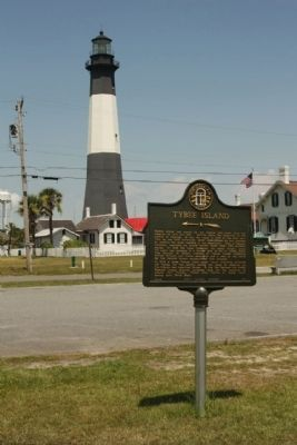 Tybee Island Marker near the Lighthouse image. Click for full size.