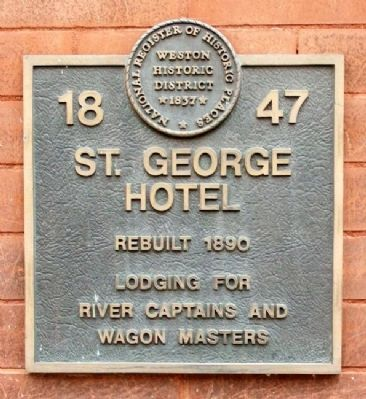 St. George Hotel Marker image. Click for full size.