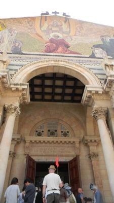 Entrance to the Basilica of the Agony/Church of All Nations image. Click for full size.