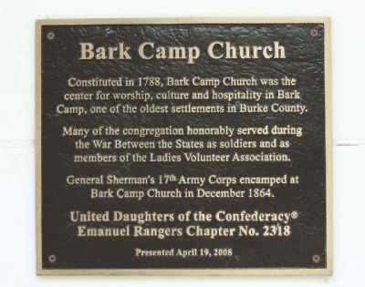 Bark Camp Church Marker image. Click for full size.