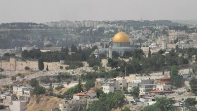 Jerusalem: the Temple Mount, viewed from the Mount of Olives image. Click for full size.