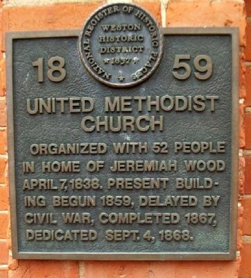 United Methodist Church Marker image. Click for full size.