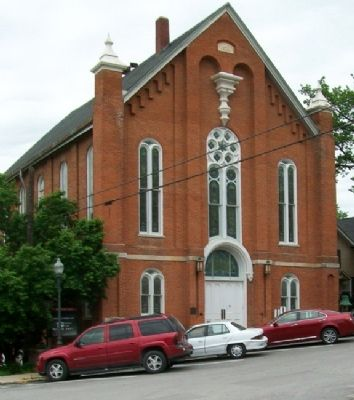United Methodist Church and Marker image. Click for full size.