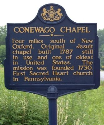 Conewago Chapel Marker image. Click for full size.