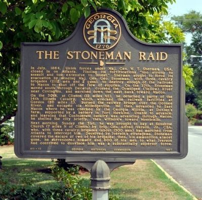 The Stoneman Raid Marker image. Click for full size.