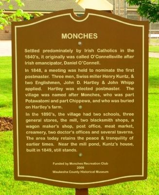 Monches Marker image. Click for full size.