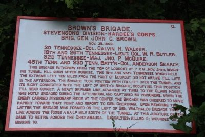 Brown 's Brigade Marker image. Click for full size.