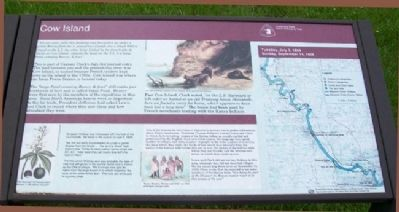 Cow Island Marker image. Click for full size.