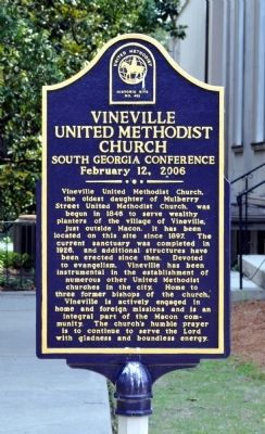 Vineville United Methodist Church Marker image. Click for full size.