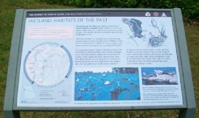 Wetland Habitats of the Past Marker image. Click for full size.