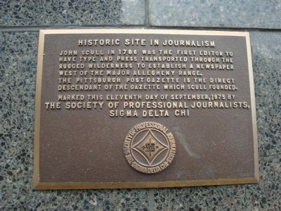 Historic Site in Journalism Marker image. Click for full size.