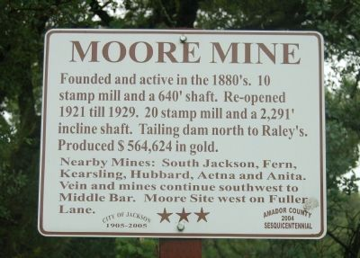 Moore Mine Marker image. Click for full size.