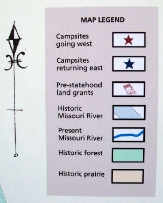 Map Key on Lewis and Clark in Missouri Marker image. Click for full size.