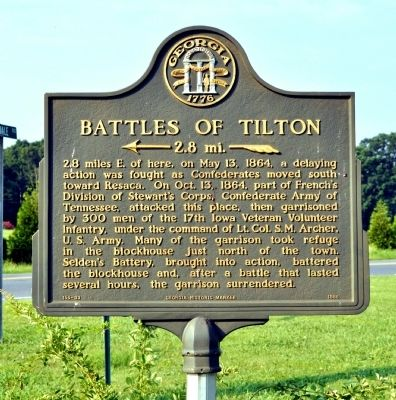 Battles of Tilton Marker image. Click for full size.