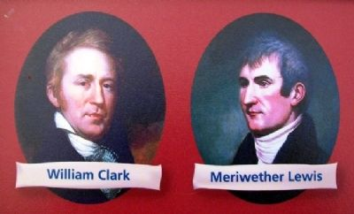 Lewis and Clark Portraits on Expedition Across Missouri Marker image. Click for full size.