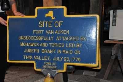 Fort Van Auken Marker image. Click for full size.