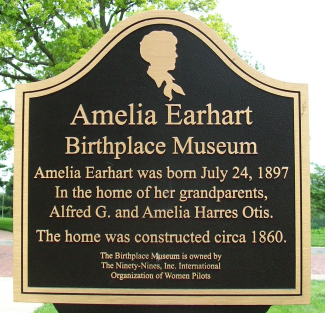the amelia earhart birthplace museum Amelia earhart birthplace museum 299 north terrace street atchison ks 66002 now, at this museum, you can see where she was born and grew up dating back to 1861, the building is historic in itself, and is also listed as a national historic site - which makes it even more special.