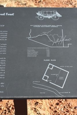 Close up of site map on marker image. Click for full size.