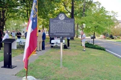 "Dedication of the ""General Cleburne's Proposal to Arm Slaves"" Marker image. Click for full size."