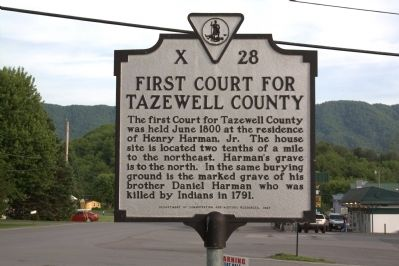 First Court for Tazewell County Marker image. Click for full size.