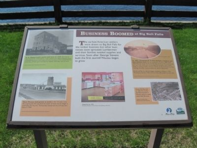 Business Boomed at Big Bull Falls Marker image. Click for full size.