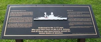 USS Arizona Memorial Marker image. Click for full size.