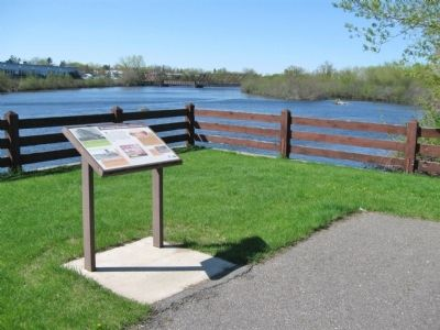 Marker and Wisconsin River image. Click for full size.