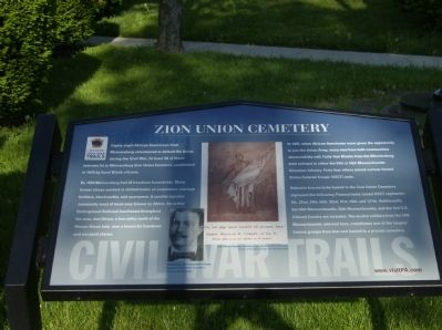 Zion Union Cemetery Marker image. Click for full size.