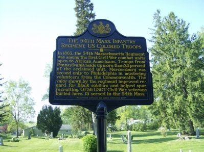 The 54th Mass. Infantry Regiment, US Colored Troops Marker image. Click for full size.