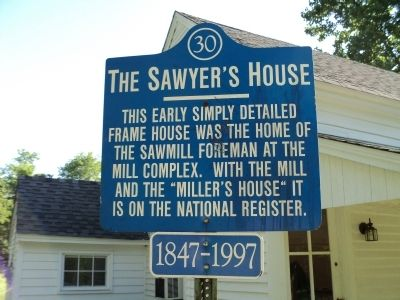 The Sawyer's House Marker image. Click for full size.