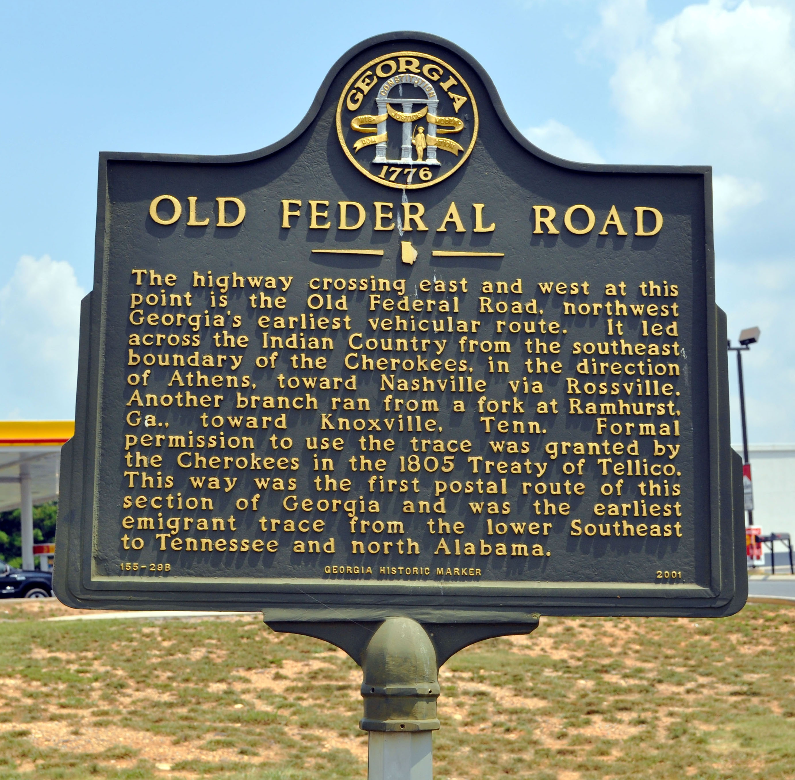 Old Federal Road Marker