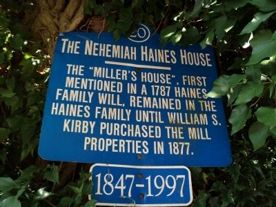 The Nehemiah Haines House Marker image. Click for full size.