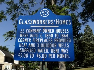 Glassworkers' Homes Marker image. Click for full size.