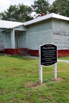 Marysville School and Marker image. Click for full size.