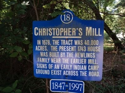 Christopher's Mill Marker image. Click for full size.
