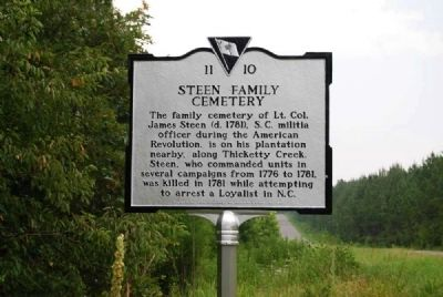 Steen Family Cemetery Marker image. Click for full size.