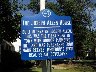 The Joseph Allen House Marker image. Click for full size.