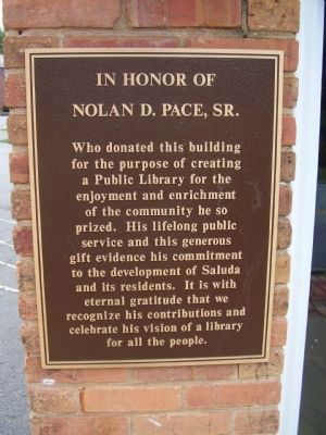Nolan D. Pace, Sr. Marker image. Click for full size.
