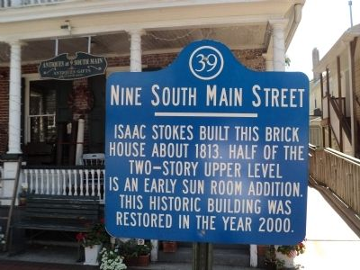 Nine South Main Street Marker image. Click for full size.