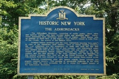 The Adirondacks Marker image. Click for full size.