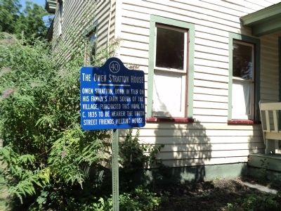 The Otto Stratton House Marker image. Click for full size.
