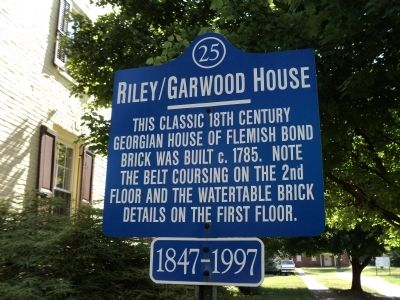 Riley / Garwood House Marker image. Click for full size.